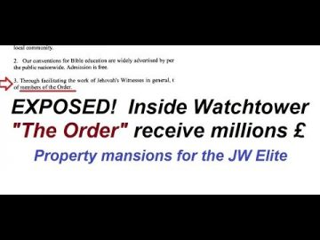 "Who are ""The Order"" inside Watchtower receiving MILLIONS?"