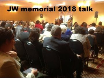 JW org Memorial Talk 2018 (Audio recording UK)