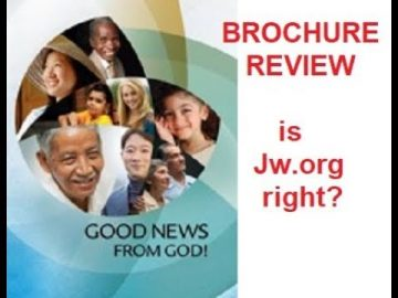 JW.org brochure review - Good News from God