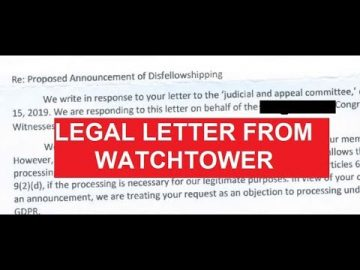 Got a Legal Letter from Watchtower Yesterday