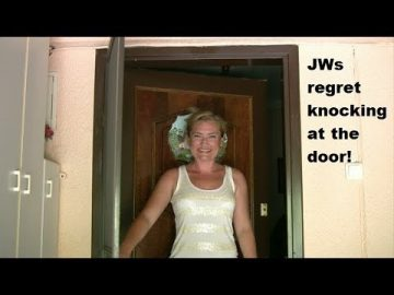 Jehovah's Witnesses knock on cult outreach worker's door!!  Must see!