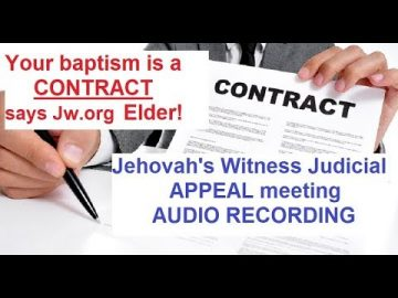 JW Judicial APPEAL for Apostasy (Secret Recording)